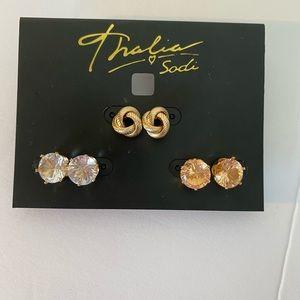 🆕 stone stud Earrings Trio,
